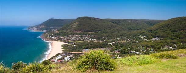 The view at the Bald Hill Lookout at Stanwell Tops.